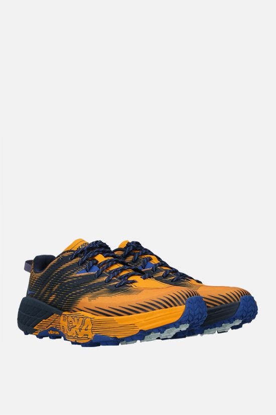 HOKA ONE ONE: Speedgoat 4 tech knit sneakers Color Yellow_2