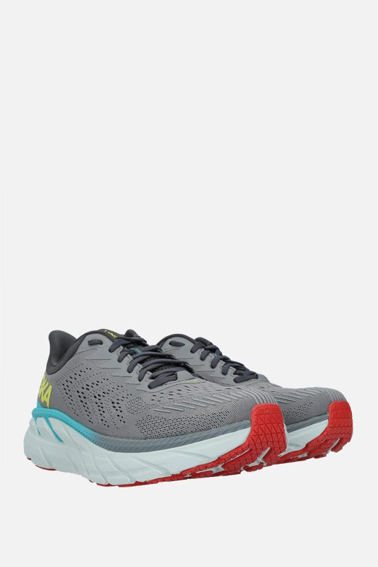 HOKA ONE ONE: Clifton 7 tech knit sneakers Color White_2