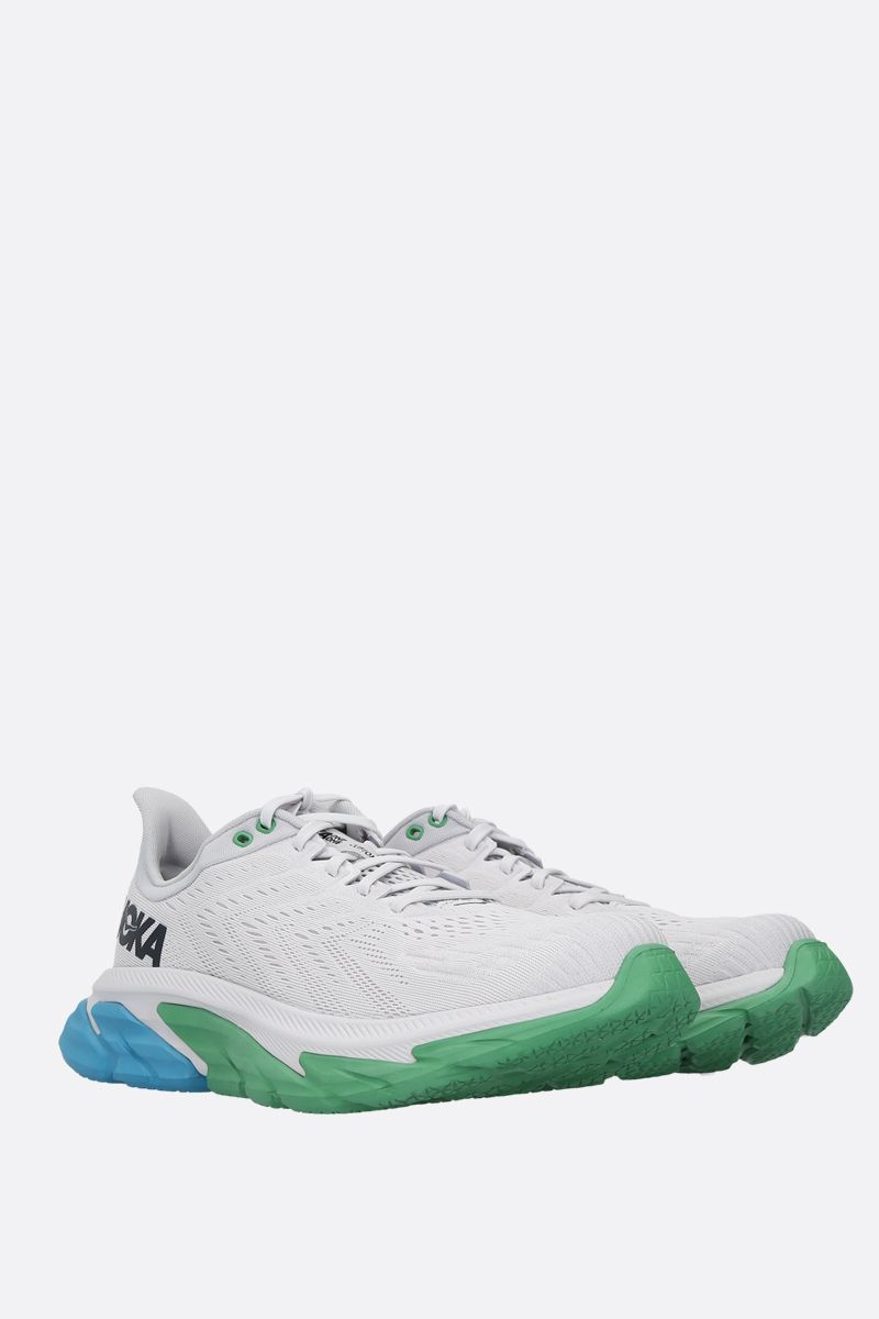 HOKA ONE ONE: Clifton Edge tech knit sneakers Color Green_2