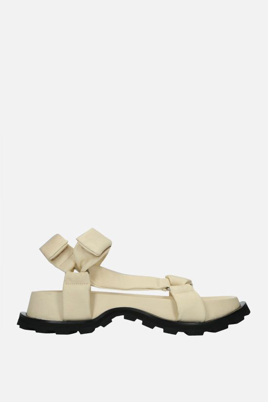 JIL SANDER: soft nappa flatform sandals Color White_1