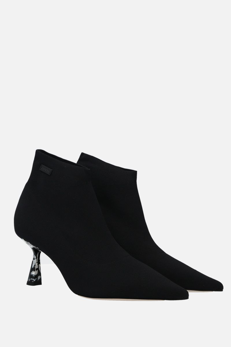 JIMMY CHOO: Saber stretch knit booties Color Black_2
