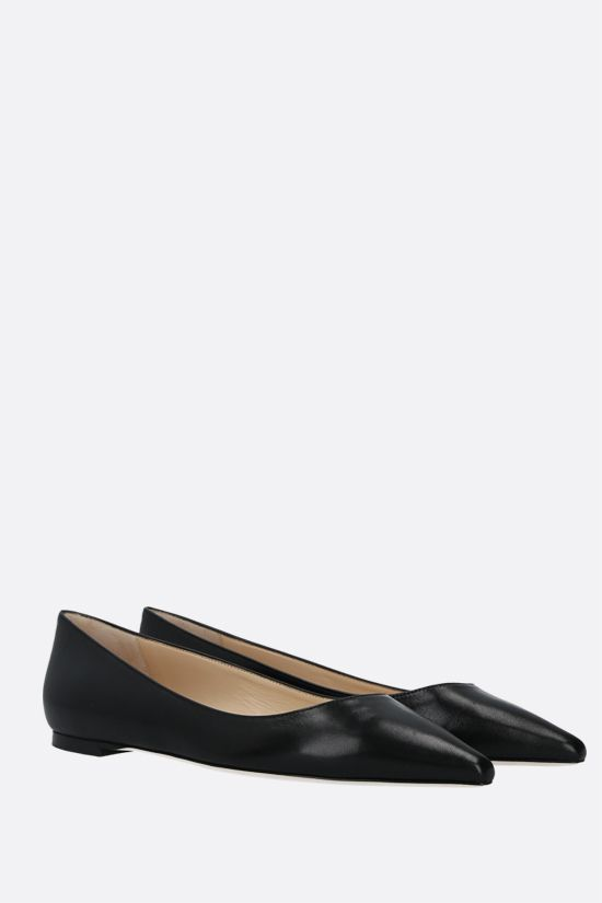 JIMMY CHOO: Romy smooth leather ballerinas Color Black_2