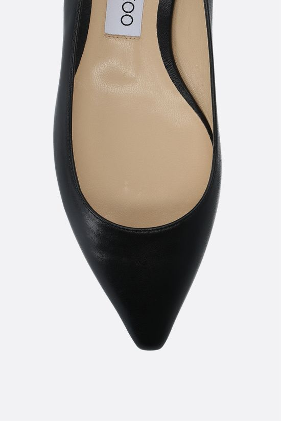 JIMMY CHOO: Romy smooth leather ballerinas Color Black_4