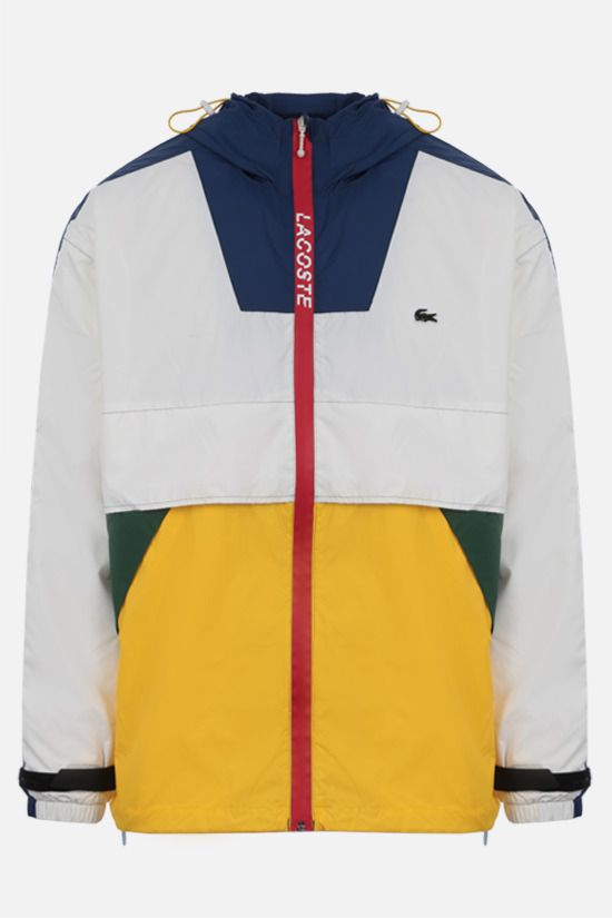 LACOSTE L!VE: giacca a vento in nylon color-block patch logo Colore Multicolore_1