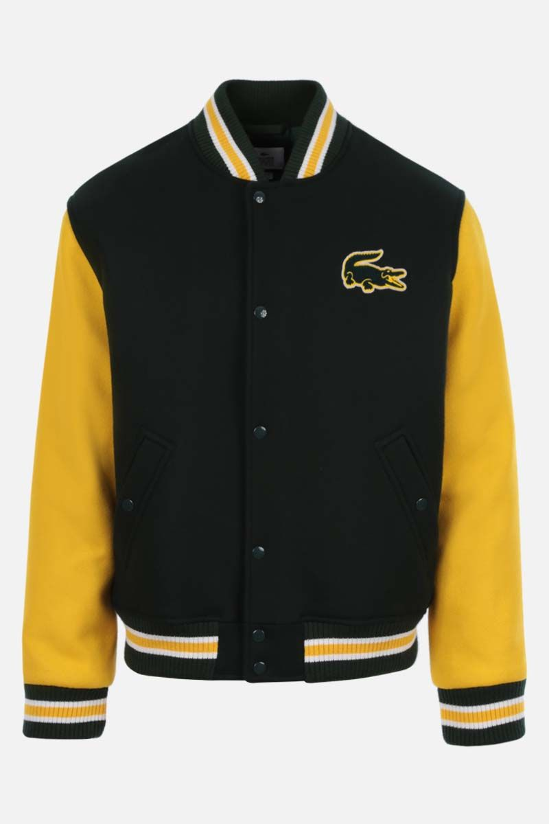 LACOSTE L!VE: wool blend padded varsity jacket_1