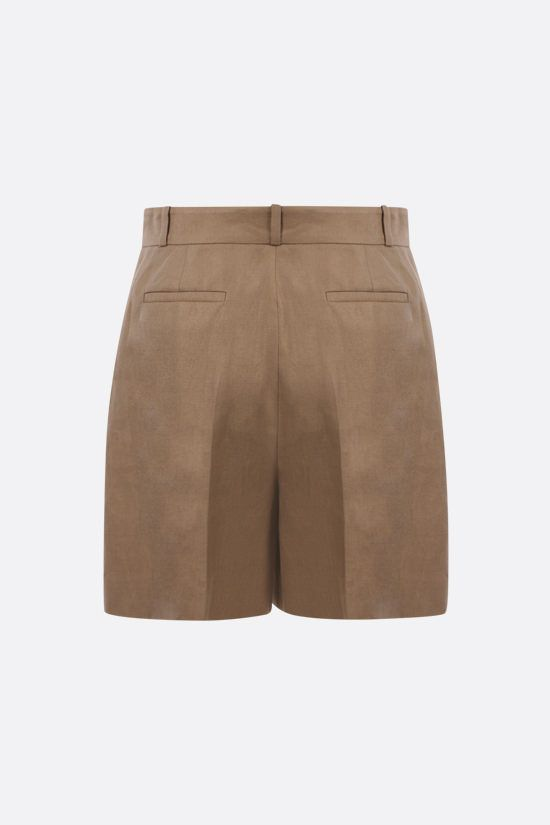 LORO PIANA: Emil Antigua linen shorts Color Green_2