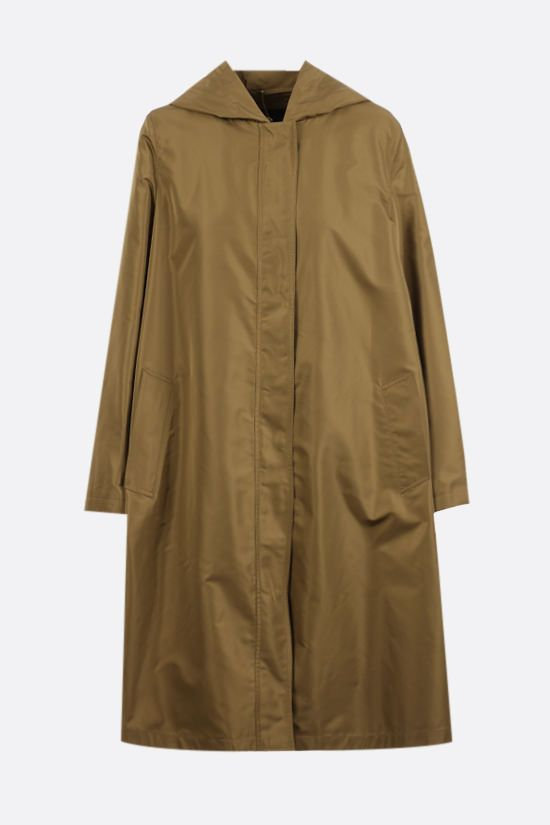 LORO PIANA: Blaise Short technical silk raincoat Color Brown_1