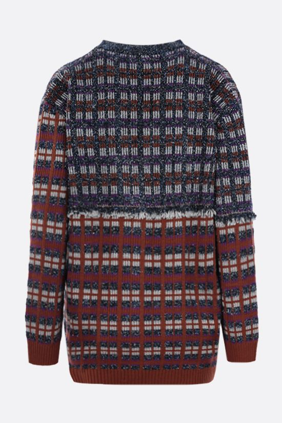 M MISSONI: geometric-motif tweed cardigan Color Multicolor_2