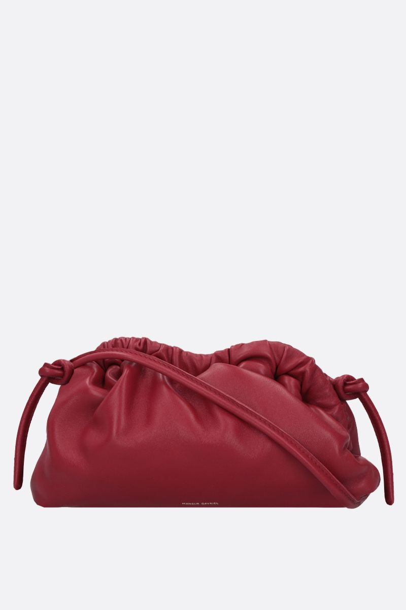 MANSUR GAVRIEL: mini Cloud soft nappa clutch Color Red_1