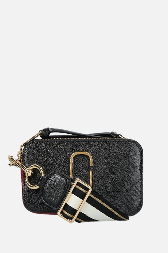 MARC JACOBS: Snapshot small crossgrain leather camera bag Color Black_1