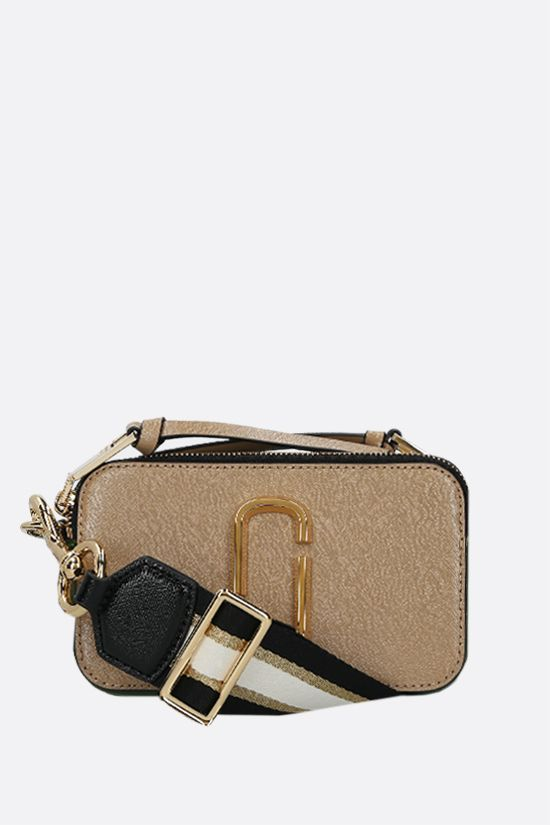 MARC JACOBS: Snapshot small crossgrain leather camera bag Color Neutral_1