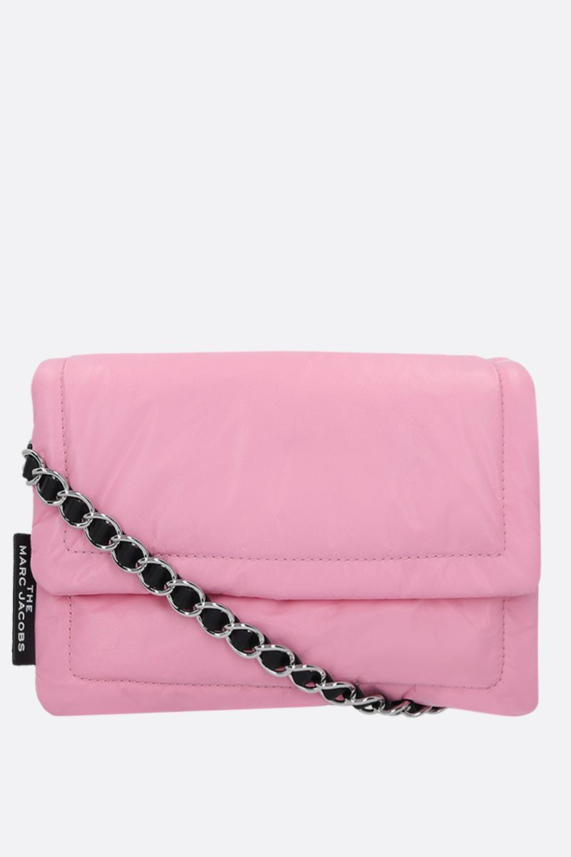 MARC JACOBS: The Pillow feather-light leather crossbody bag Color Pink_1
