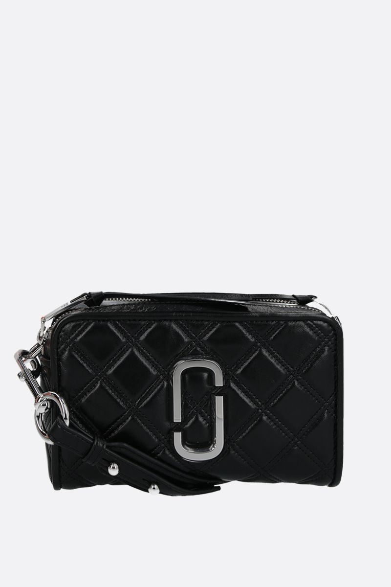 MARC JACOBS: borsa a tracolla The Softshot 21 in nappa matelassè Colore Nero_1