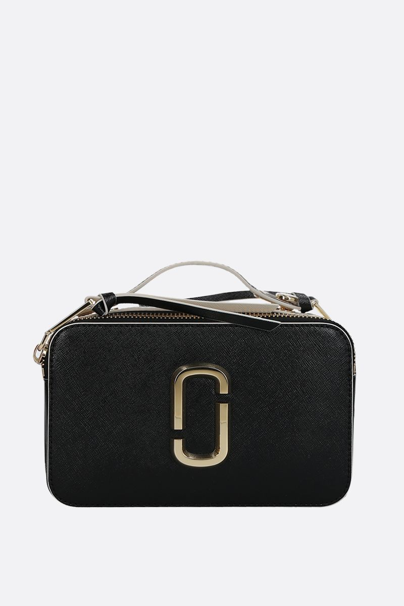 MARC JACOBS: Snapshot large saffiano leather crossbody bag Color Black_1
