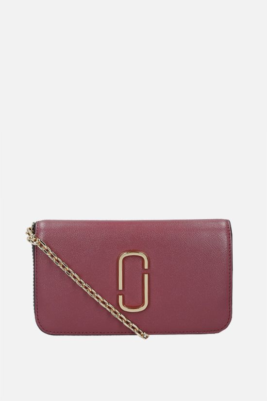 MARC JACOBS: Snapshot crossgrain leather crossbody bag Color Red_1