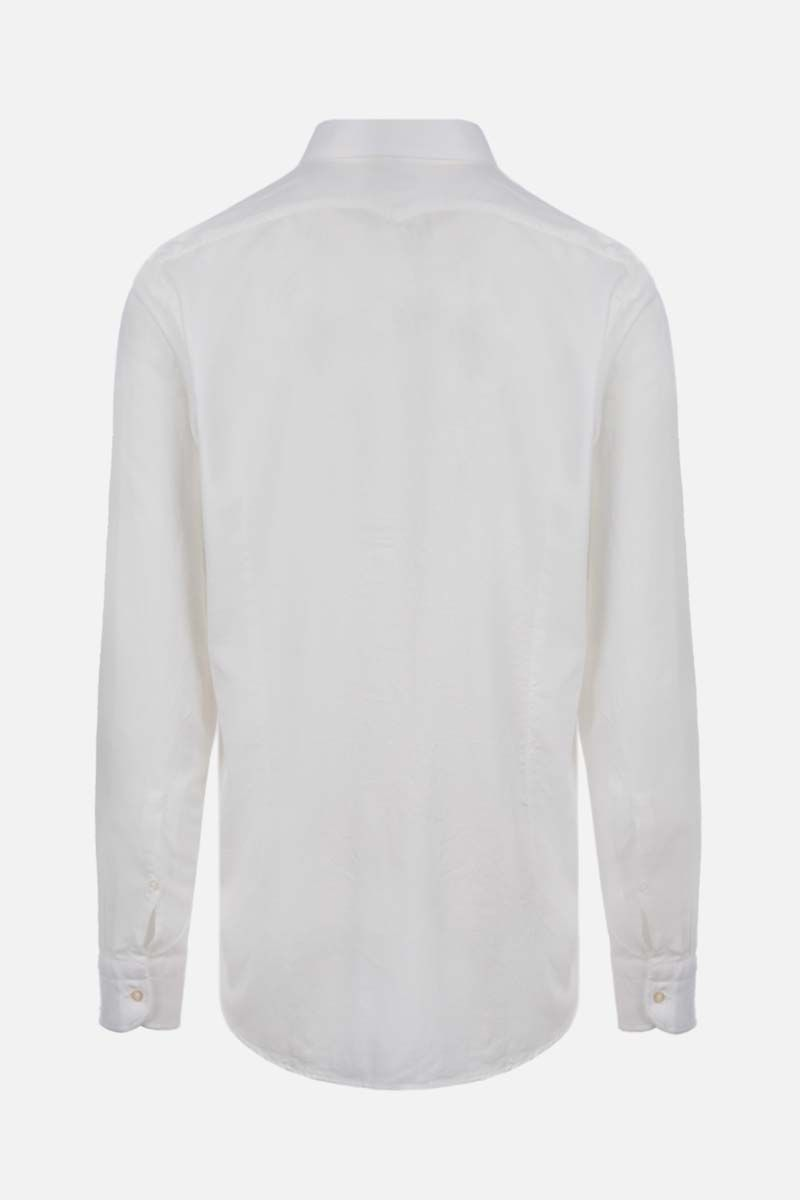MASSIMO ALBA: Genova cotton blend shirt Color White_2