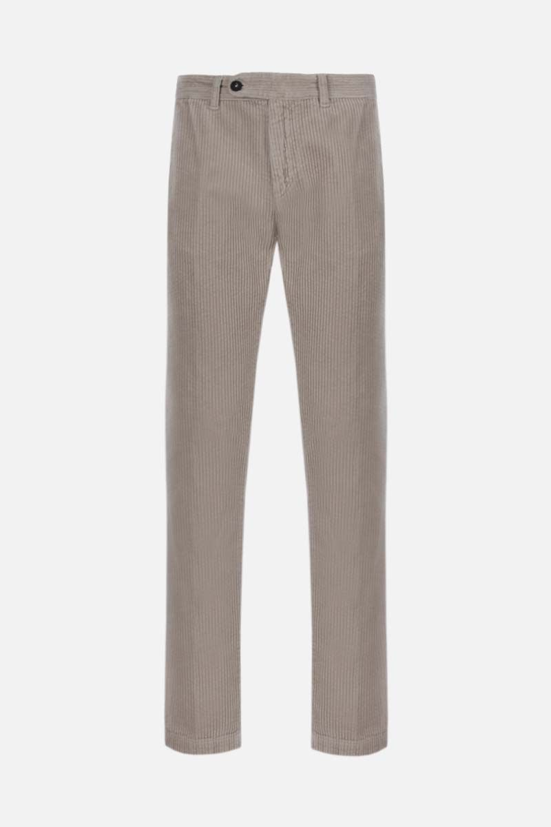 MASSIMO ALBA: slim-fit ribbed velvet pants Color Neutral_1