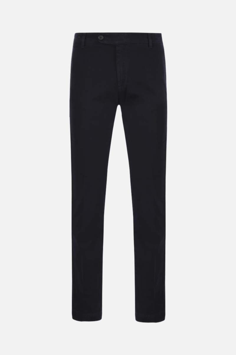MASSIMO ALBA: slim-fit stretch gabardine pants Color Blue_1