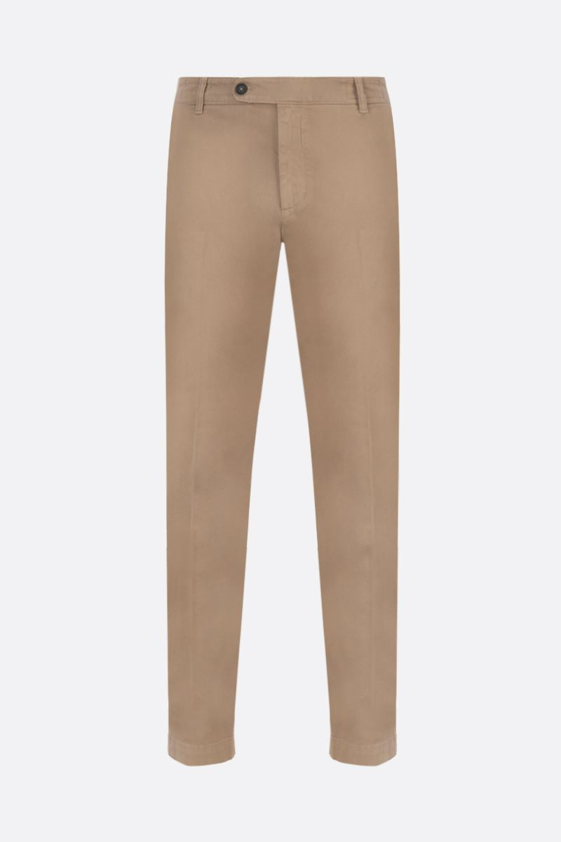 MASSIMO ALBA: slim-fit stretch gabardine pants Color Brown_1