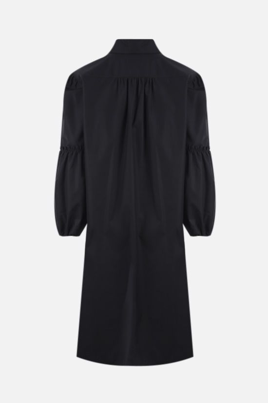 MAX MARA: Fedora poplin short dress Color Black_2