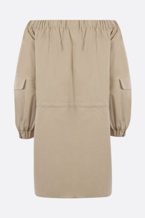 MAX MARA: Emanuel off-the-shoulder cotton dress Color Neutral_2