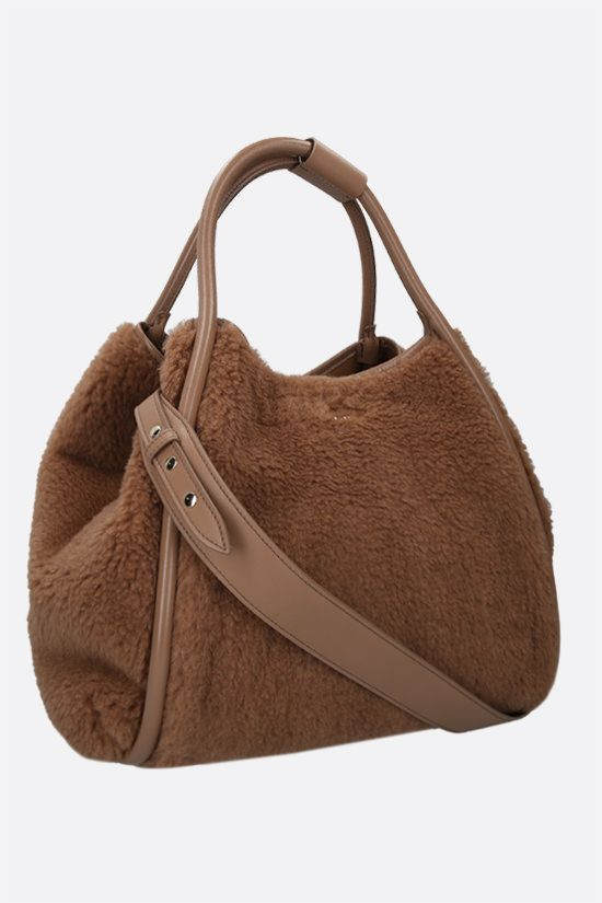 MAX MARA: fur shopping bag Color Neutral_2