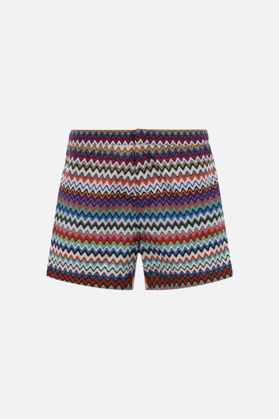 MISSONI: zig zag-motif nylon swim shorts Color Multicolor_1