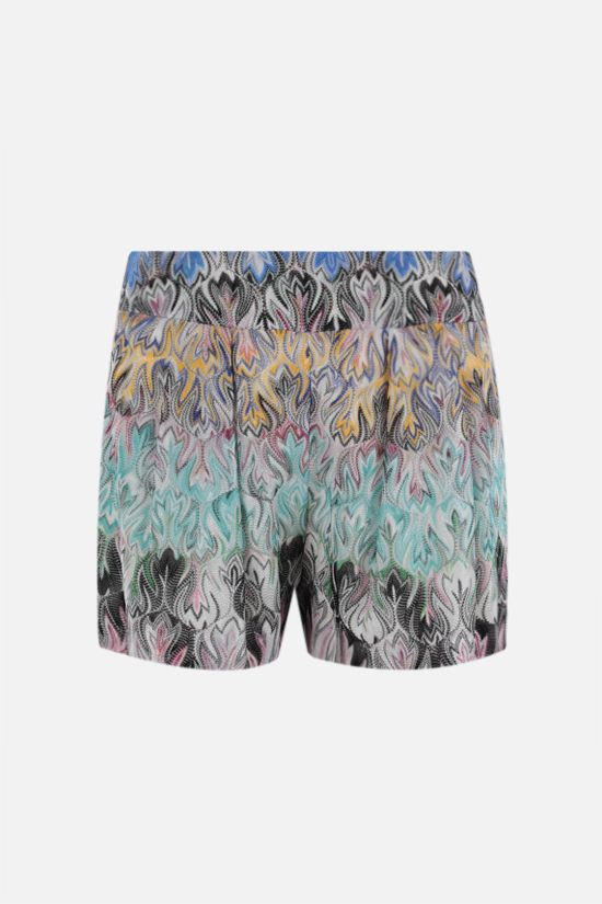 MISSONI: graphic-motif lightweight knit darted shorts Color Multicolor_1