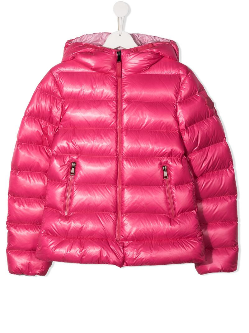 MONCLER KIDS: Sunday nylon down jacket Color Purple_1