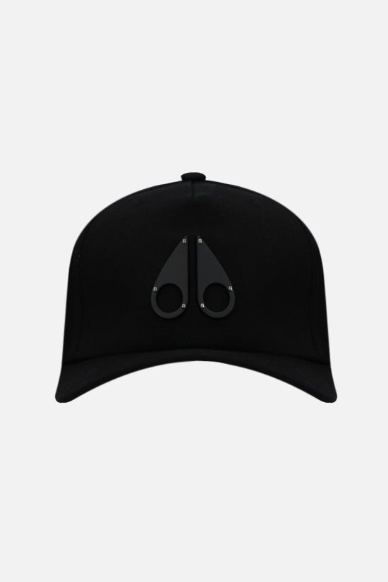 MOOSE KNUCKLES: Logo Icon cotton baseball cap Color Black_1