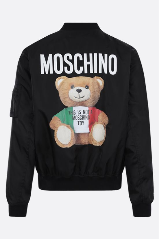 MOSCHINO: Italian Teddy Bear nylon padded bomber jacket Color Black_2