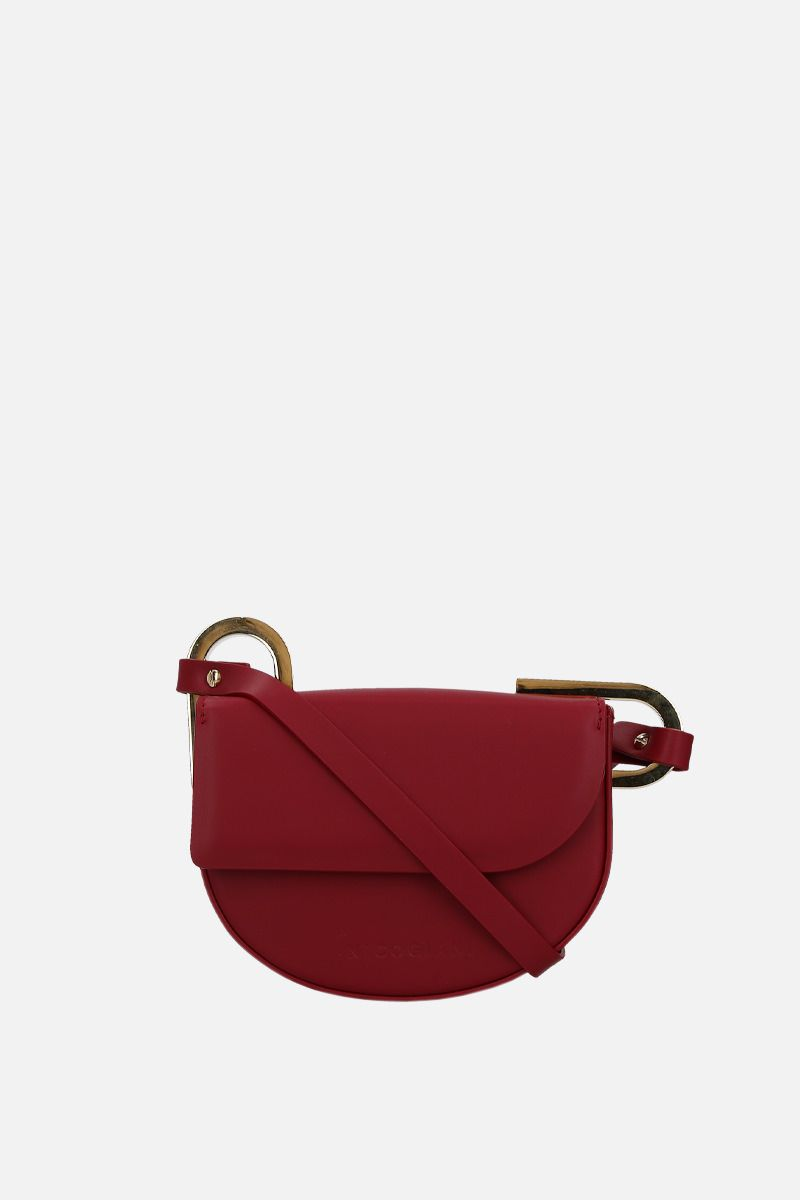 NICO GIANI: Tilly mini smooth leather shoulder bag Color Red_1