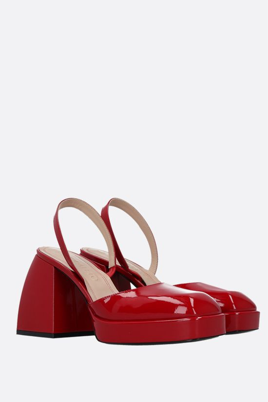 NODALETO: Bulla Jones patent leather slingbacks Color Red_2