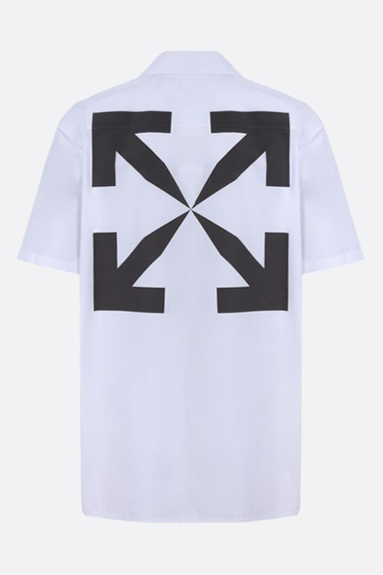 OFF WHITE: camicia bowling Monalisa Holiday in cotone Colore Bianco_2