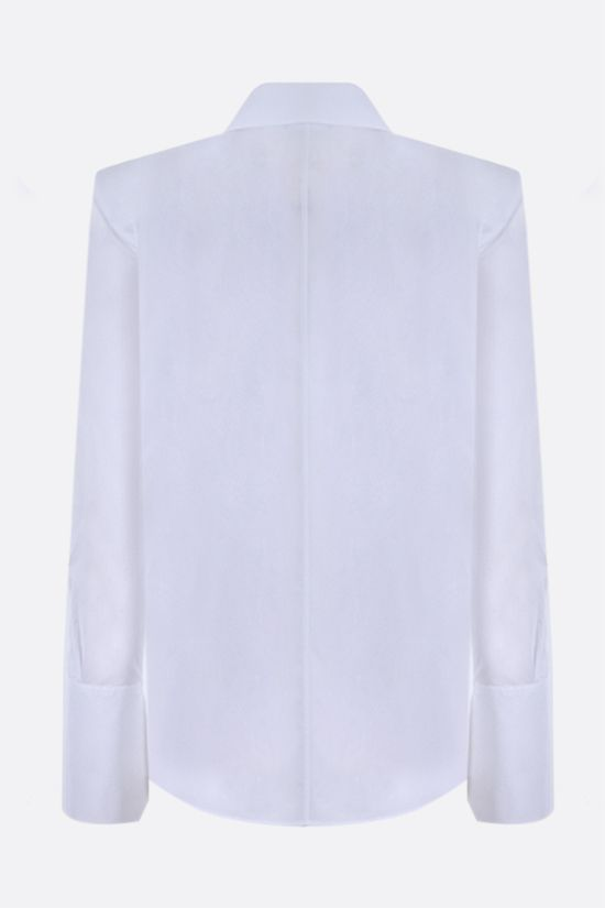 OFF WHITE: logo embroidered cotton shirt Color White_2
