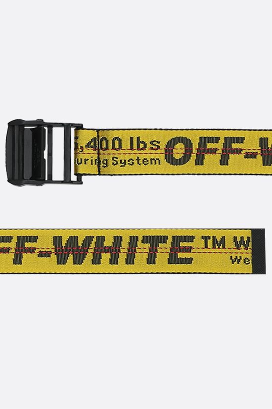 OFF WHITE: Classic Industrial logoed fabric belt Color Yellow_2