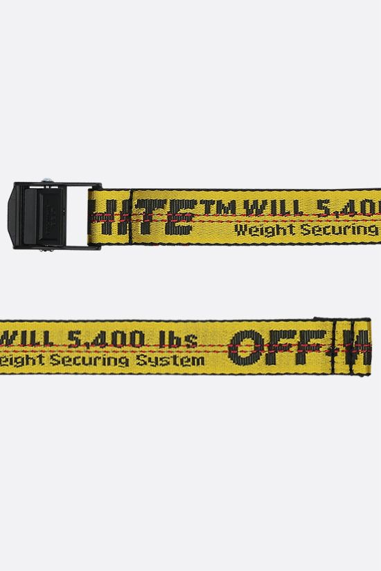 OFF WHITE: Industrial mini belt in logoed fabric Color Yellow_2