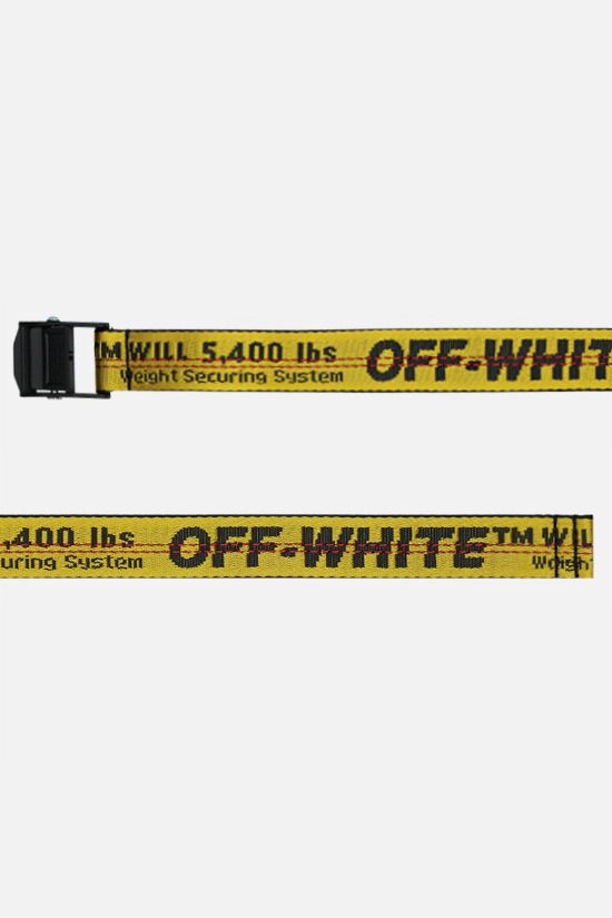 OFF WHITE: Industrial mini logoed fabric belt Color Yellow_2