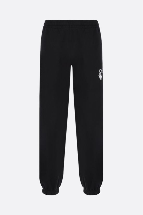 OFF WHITE: Marker cotton joggers Color Black_1