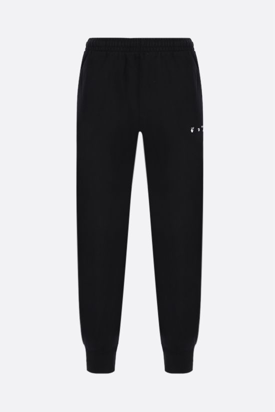 OFF WHITE: Caravaggio cotton joggers Color Black_1