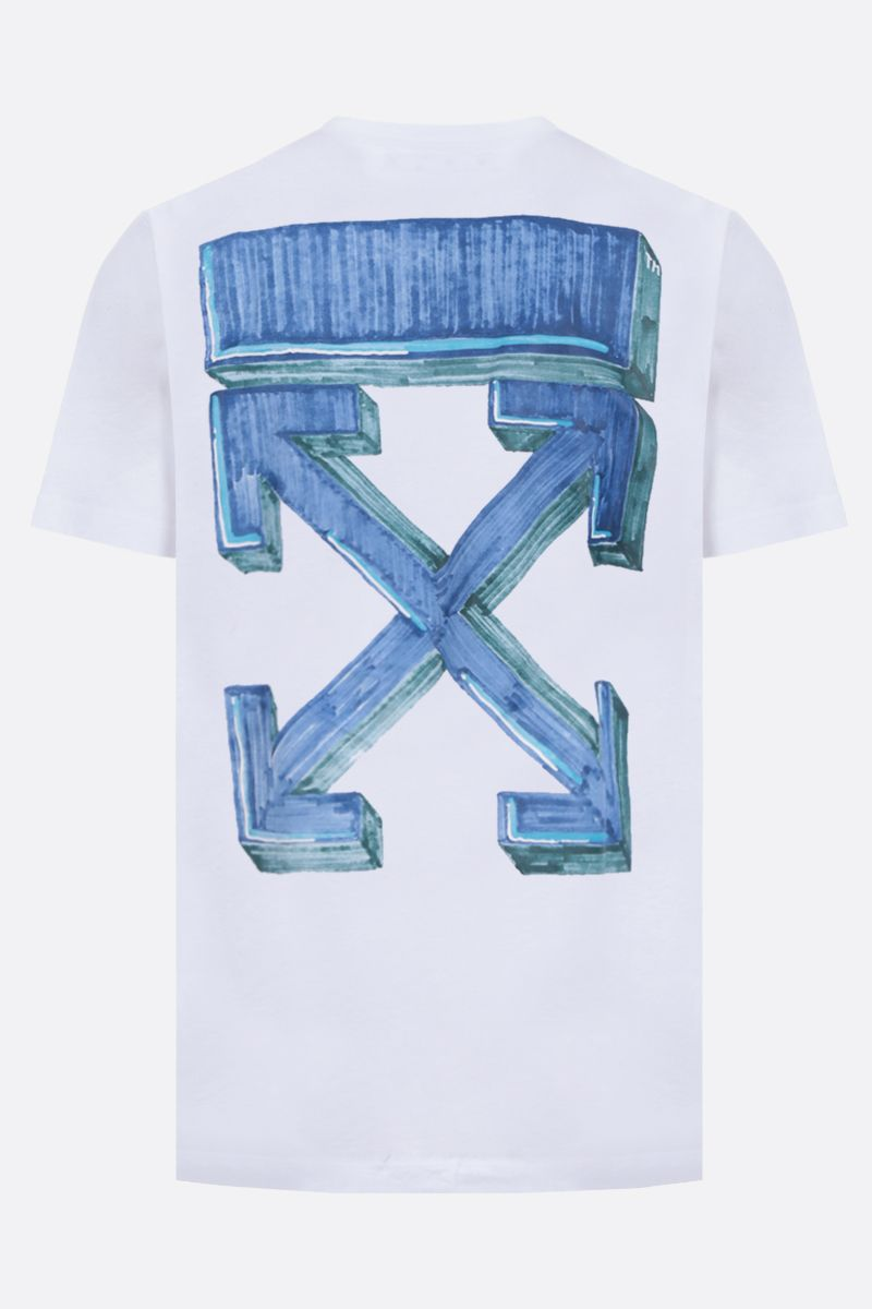 OFF WHITE: t-shirt Marker in cotone_2
