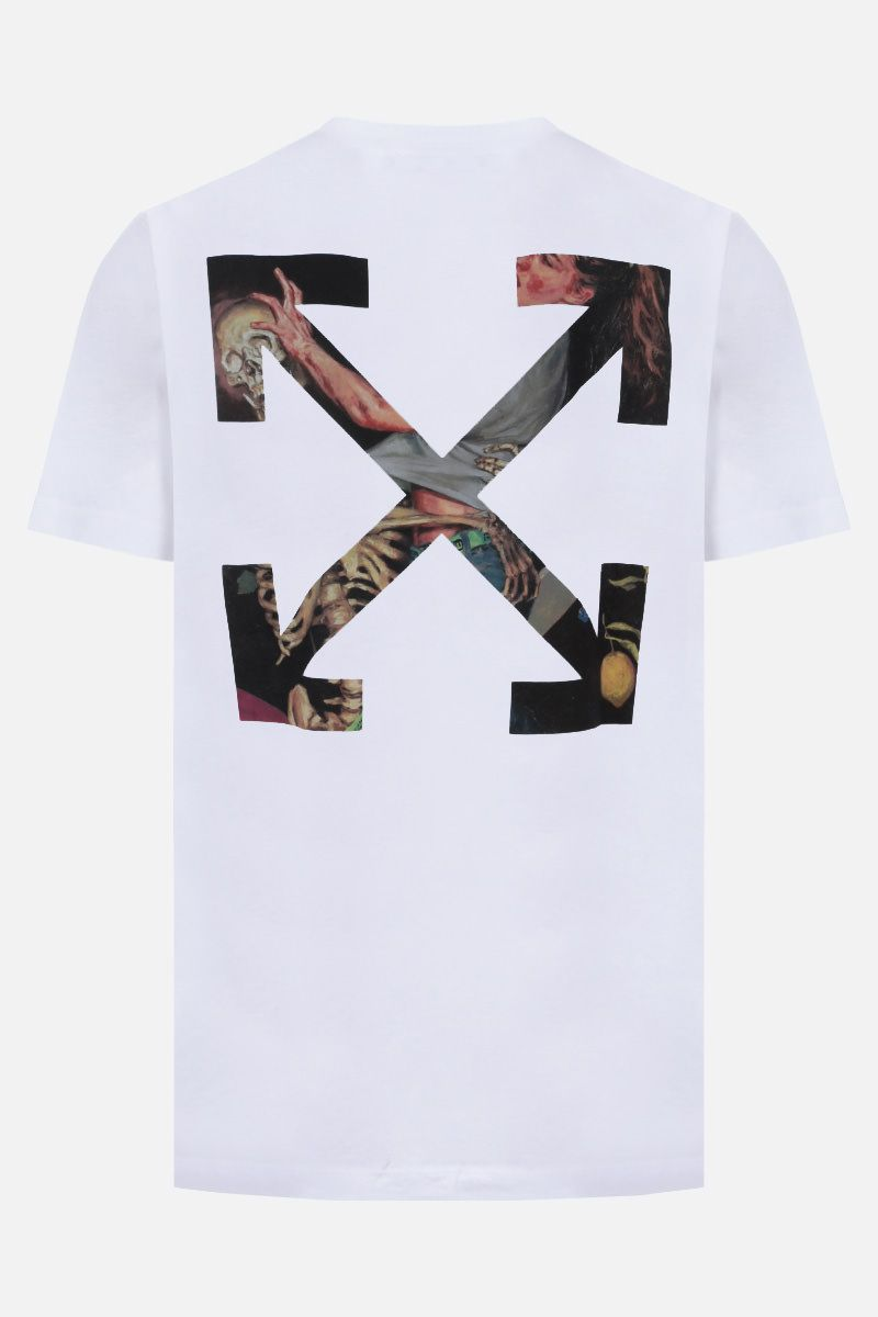 OFF WHITE: t-shirt Pascal Arrow in cotone Colore Nero_2
