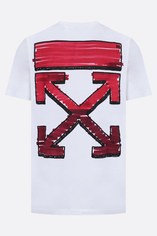 OFF WHITE: t-shirt Marker in cotone Colore Multicolore_2