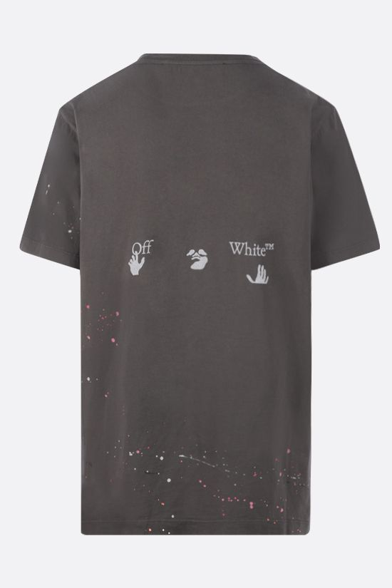 OFF WHITE: Vintage Paint cotton t-shirt Color Grey_2