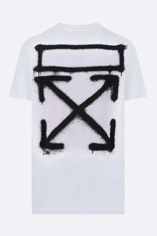 OFF WHITE: Marker cotton t-shirt Color White_2