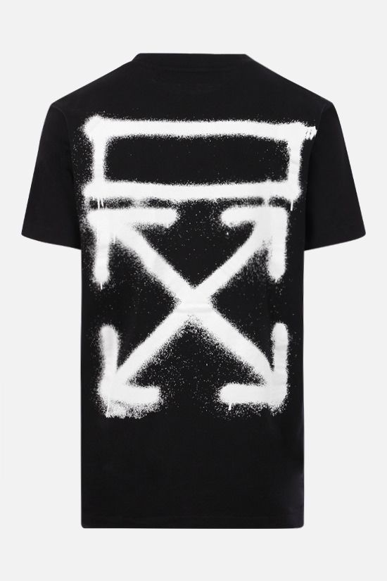OFF WHITE: t-shirt Spray Marker in cotone Colore Nero_2