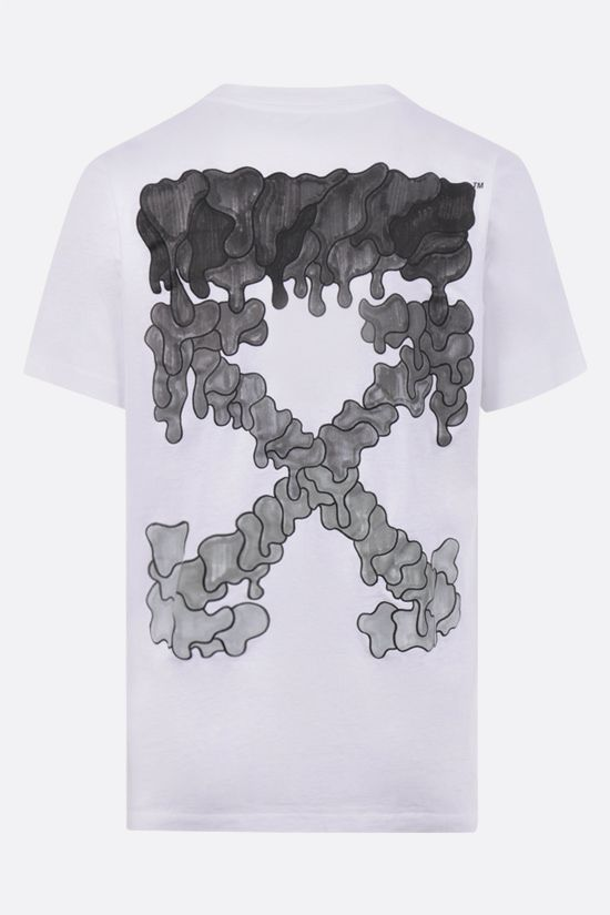 OFF WHITE: Spray Marker cotton t-shirt Color White_2