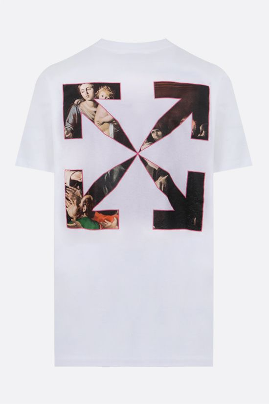 OFF WHITE: Sprayed Caravaggio cotton t-shirt Color White_2