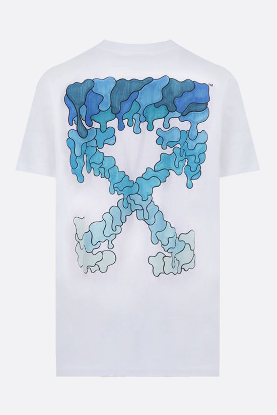 OFF WHITE: Marker oversize cotton t-shirt Color White_2