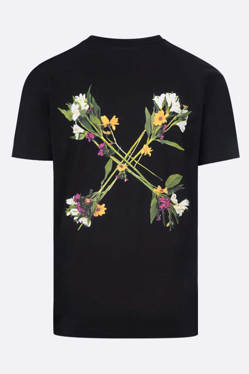 OFF WHITE: t-shirt Flock Arrows in cotone Colore Nero_2